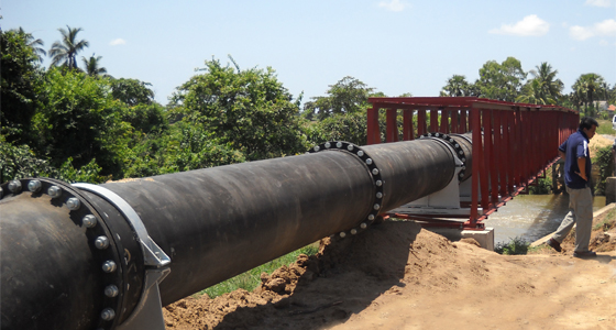 Batticaloa Water Supply Project DI Pipe Laying