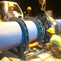 HDPE Pipe Laying in Batticaloa Lagoon