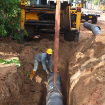 Kanthale Pipe Laying